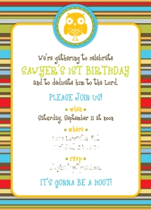 striped owl invites